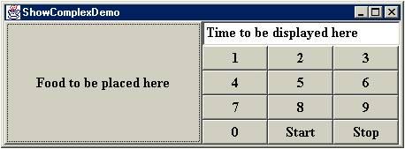 ตัวอย่างโปรแกรมแสดง GUI ที่ซับซ้อน