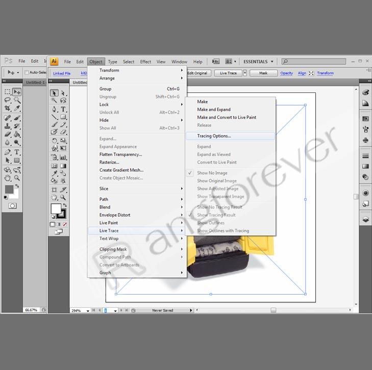 การทำภาพให้เป็นvector โปรแกรม Adobe illustrator CS4 2