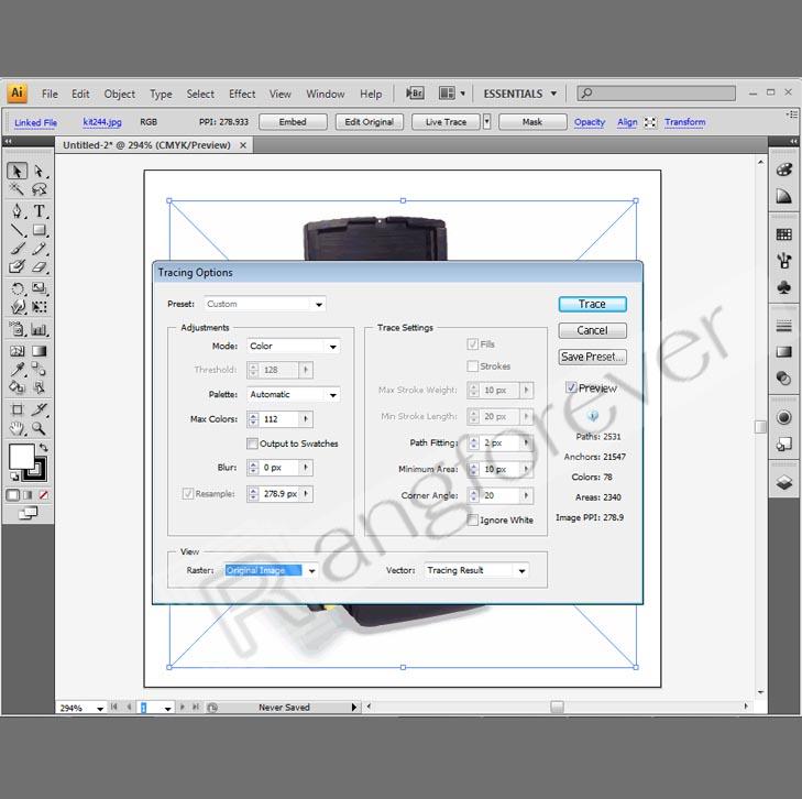 การทำภาพให้เป็นvector โปรแกรม Adobe illustrator CS4 3