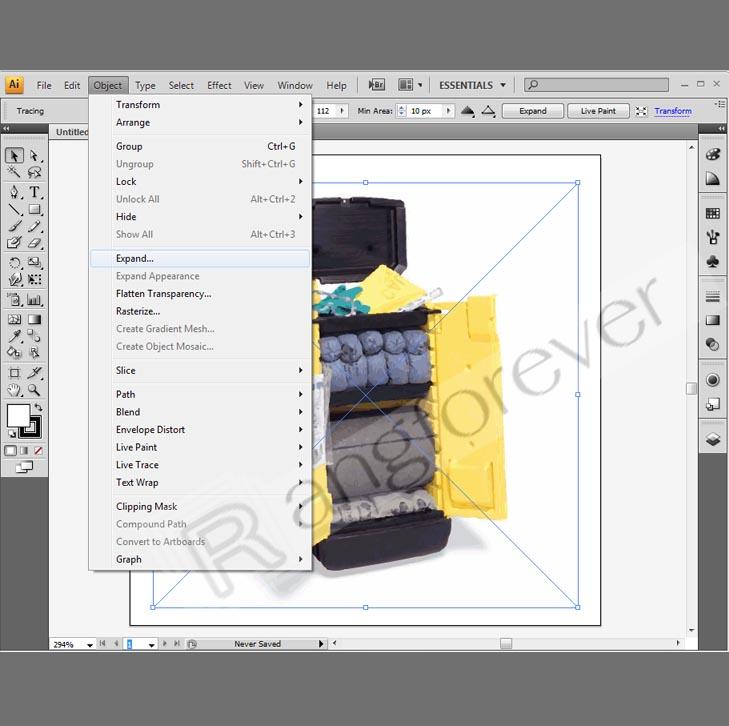 การทำภาพให้เป็นvector โปรแกรม Adobe illustrator CS4 4