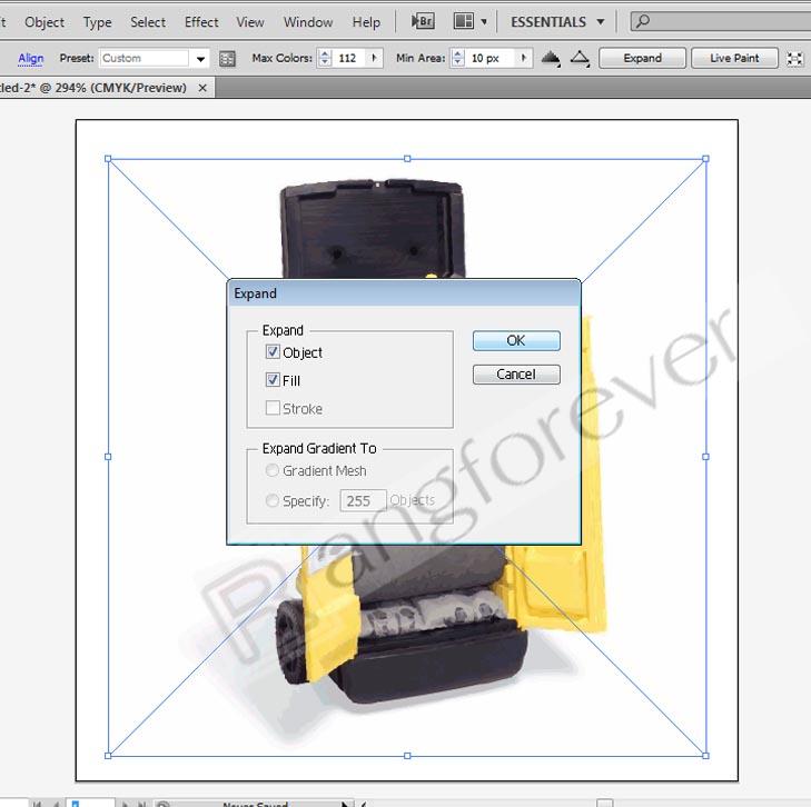 การทำภาพให้เป็นvector โปรแกรม Adobe illustrator CS4 5