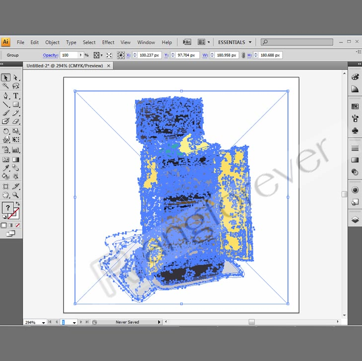 การทำภาพให้เป็นvector โปรแกรม Adobe illustrator CS4 6