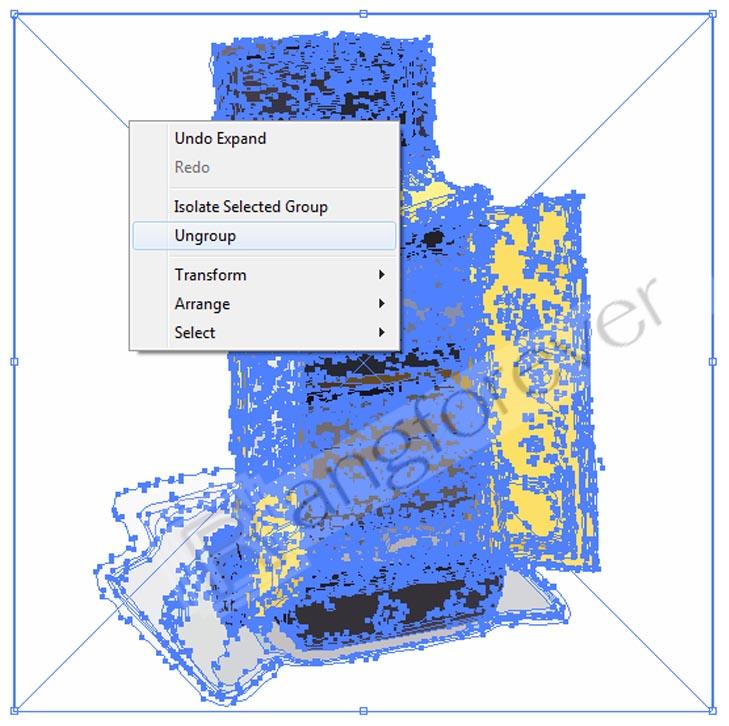 การทำภาพให้เป็นvector โปรแกรม Adobe illustrator CS4 7